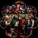The Last Supper in stained glass dreamstime_xs_79323024