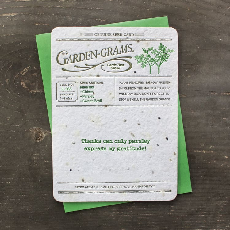 GARDEN-GRAMS® cards greetings that grow