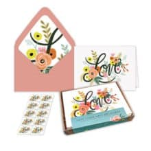 New USPS Love Flourishes Notecards Stationery