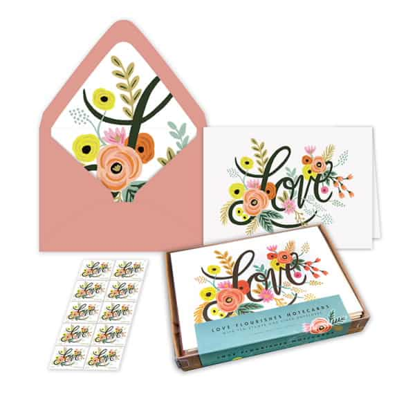 USPS Love Flourishes Notecards