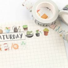 SaturDays Washi Tape Planner Supplies