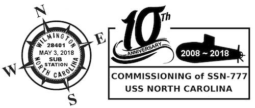USS NC 10th Anniversary Cancel