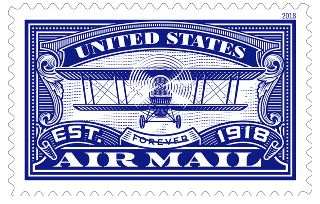 United States Air Mail Blue Forever Stamp