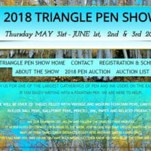 2018 TRIANGLE PEN SHOW MAY  31st – JUNE 3rd