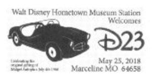 D23 Walt Disney Hometown Museum Pictorial Postmark