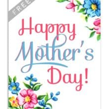 Vintage Mothers Day Card Printables Set