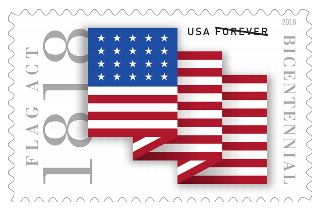 Flag Act of 1818 Stamp Bicentennial June 9, 2018
