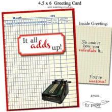 Math Geek Themed Thank You card