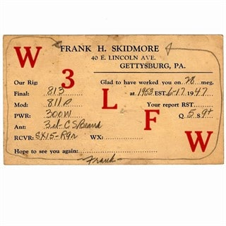 Cataloging Skidmore Vintage QSL Card Collection