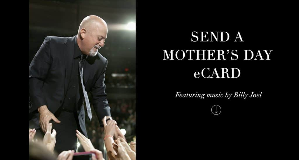 Mothers Day eCard Featuring Billy Joel