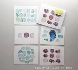 SeaglassNotecards Greeting Set Stationery