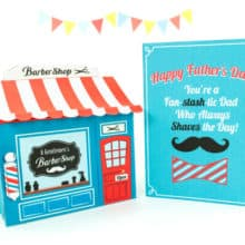 DIY Fathers Day Card and Barber Shop Printable
