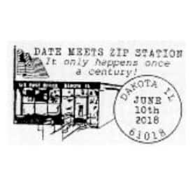 Date Meets Zip 61018 Pictorial Postmark