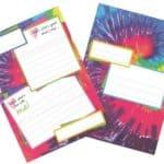 Summer Camp Gilbin Fold Seal Tie Dye Stationery