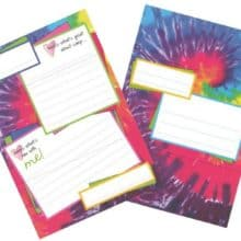 Summer Camp Gilbin Fold Seal Tie Dye Stationery