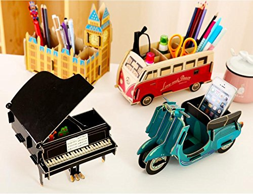 GMissT DIY Pen Pencil Holder Stationery Organizer