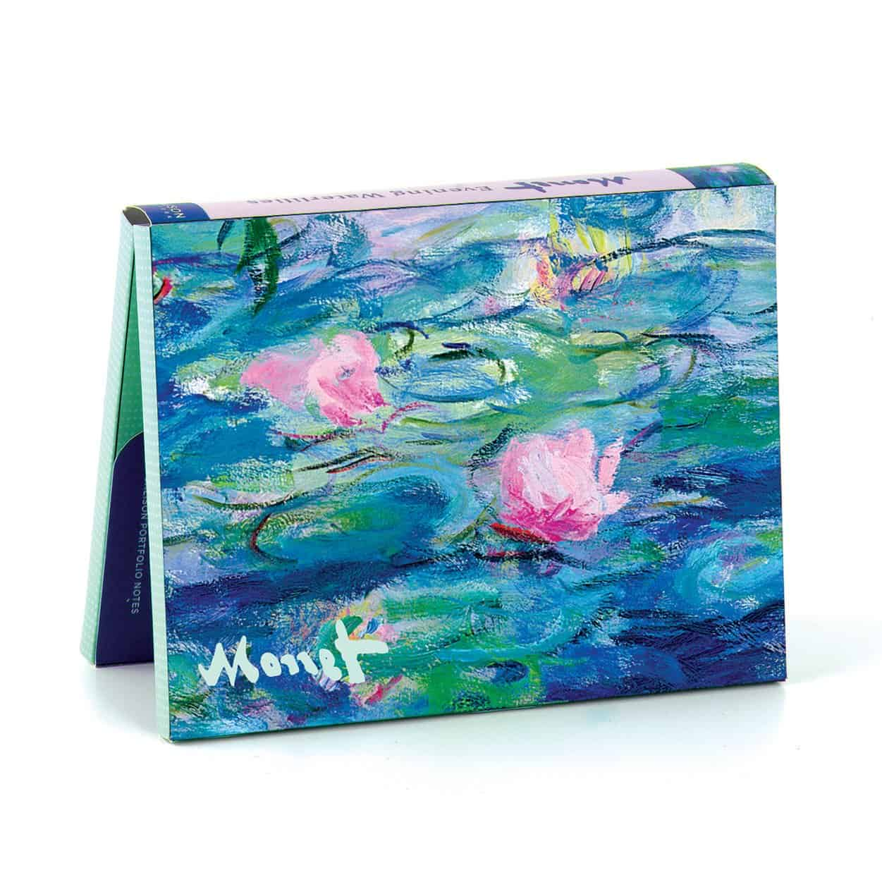 Monet Evening Waterlilies Galison Portfolio Notes