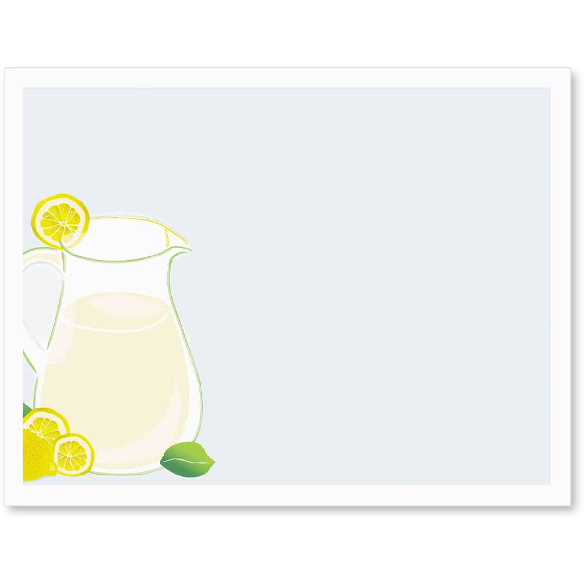 PaperDirect Printable Fresh Lemonade Postcards