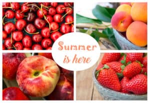 photo collage summer berries and fruits Dreamstime