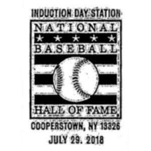 2018 Baseball Hall of Fame Pictorial Postmark