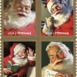 Classic Santa Stamps