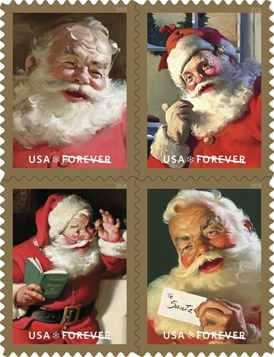 USPS Will Be Issuing Classic Santa Stamps in October