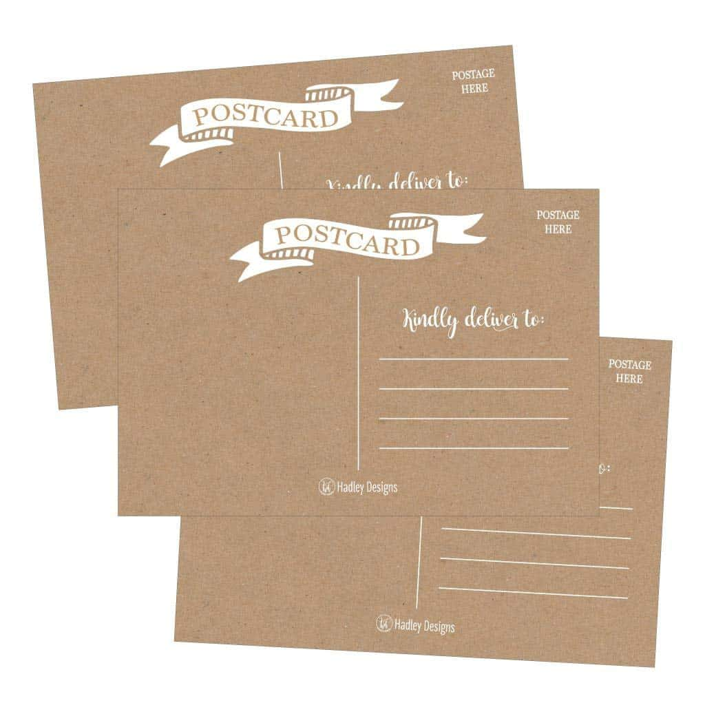 Hadley Designs Blank Printable Postcards