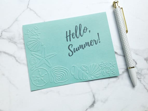 Uplift Express Hello Summer Starfish note cards set