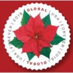USPS Holiday Stamps include 2018 Poinsettia Global Forever Stamp