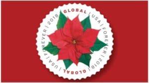 2018 poinsettia global forever stamp