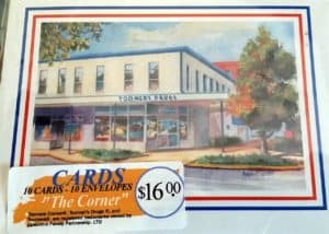 "Toomers Corner Note Cards - ""The Corner"""