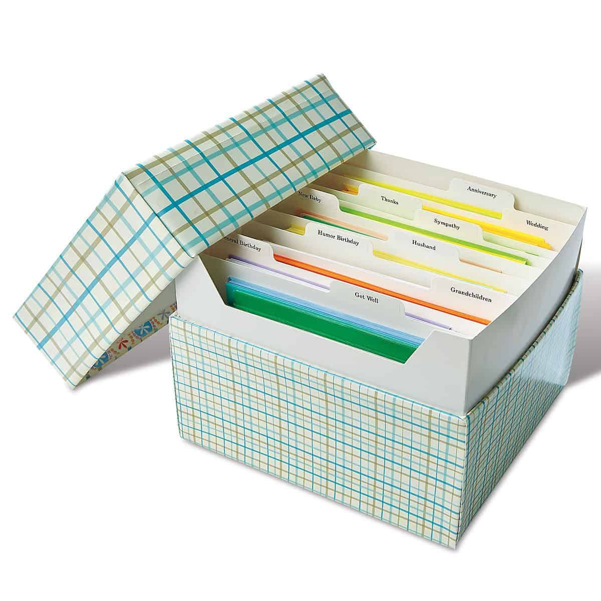 Useful Current Greeting Card Organizer Box