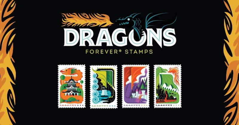 USPS 2018 Dragon Forever Stamps