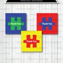 Creatively Using Thank You Puzzle Piece Printable