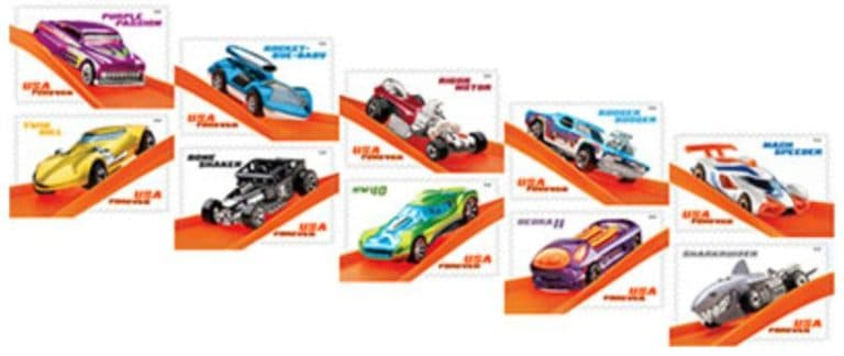 Upcoming USPS Stamps Commemorating Hot Wheels' 50th Anniversary