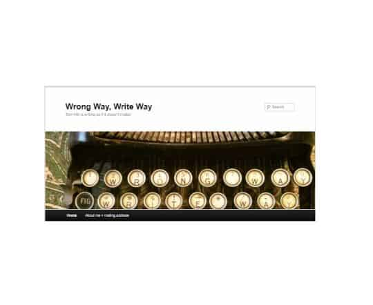 Enjoying Wrong Way Write Way Blog by Tom Hitt