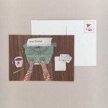 Dear Friend Typewriter Postcard
