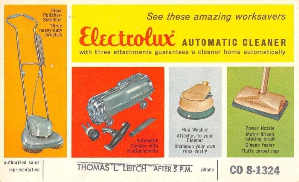 VintageElectrolux Vacuum Cleaner Ad Postcard