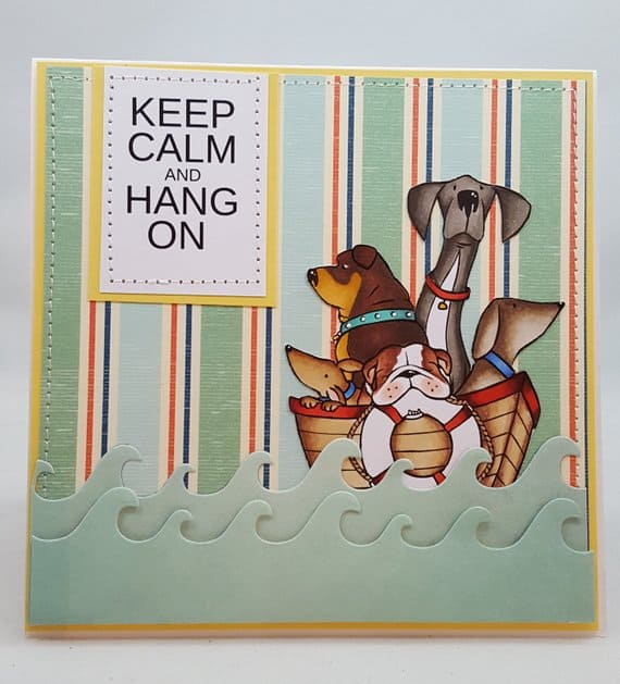 Hurricane Dogs Keep Calm Notecard