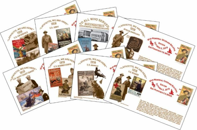 Turning The Tide WW1 Collectible Cachets