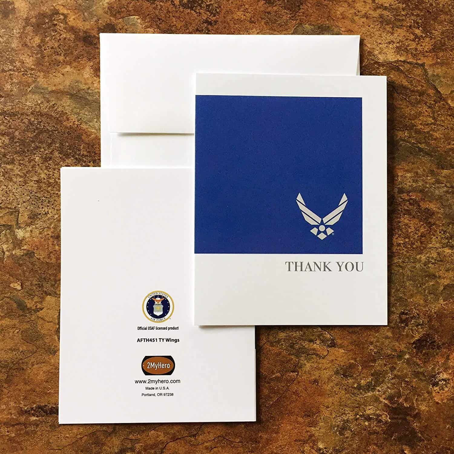 USAF Thank You Notecard Stationery