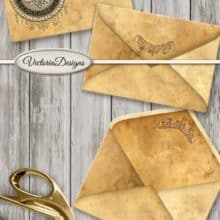 Vectoria Designs Steampunk Envelope & Notebook Printable