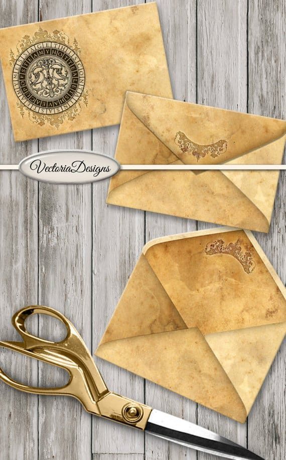 Vectoria Designs Steampunk Envelope Printable