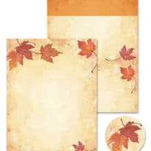 Great Papers Fall Leaves Self Mailer with seals