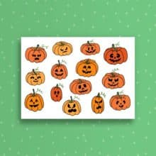 Snailspiration Halloween Jack O Lanterns Card