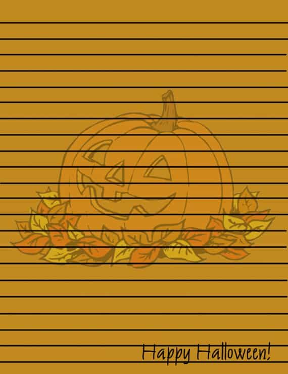 Halloween Printable Pumpkin Paper Stationery