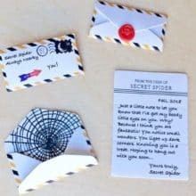 """LeafCutter Designs Halloween Themed Tiny Letters from """"Secret Spider"""""""