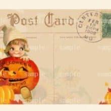 Halloween Treats for you Printable Postcard Recipe Card Set