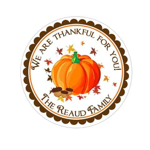 INKtropolis Fall Pumpkin Thankful Stickers