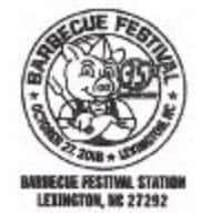 Lexington Barbecue Festival Pictorial Postmark
